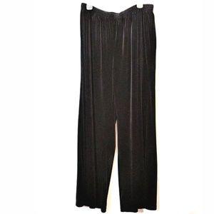 Coldwater Creek Dressy Pants Black Faux Velvet
